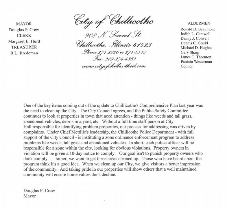 Mayor Letter Head